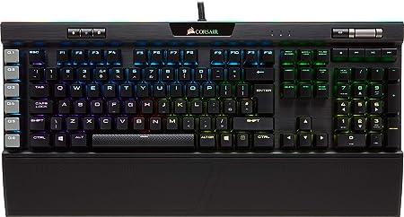 Corsair K95 RGB Platinum - Teclado mecánico Gaming (Cherry MX Speed, retroiluminación multicolor RGB, QWERTY Español), negro [España]