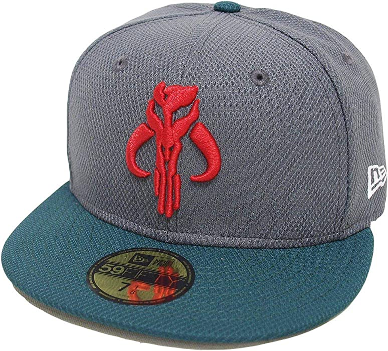 Star Wars Boba Fett Mandalorian 59Fifty Fitted Hat- 7 Grey at Amazon ... 3257ef8506a