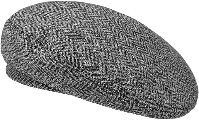 BEDACHT Wollbaske mit Schleife Baskenmütze Damenbaske Mützen