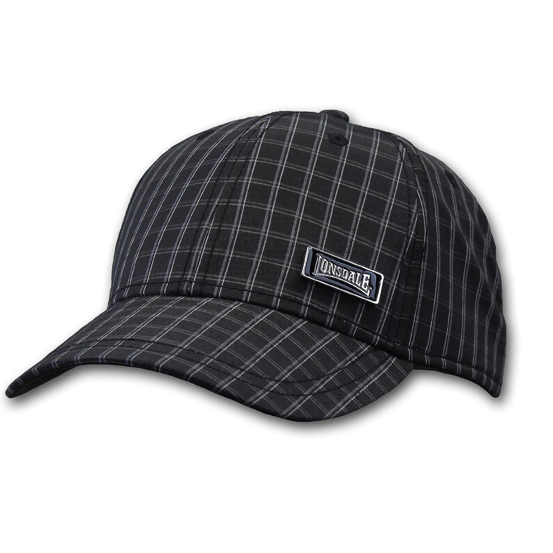 Lonsdale - Gorra de béisbol - para Hombre Negro Talla única ...