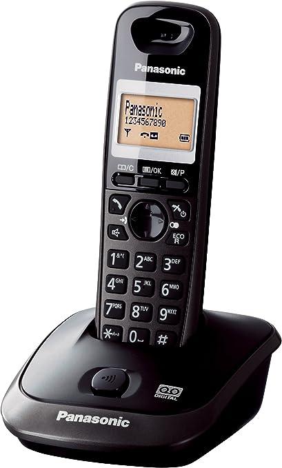 Panasonic KX-TG2521 DECT Identificador de Llamadas Negro: Amazon.es: Electrónica