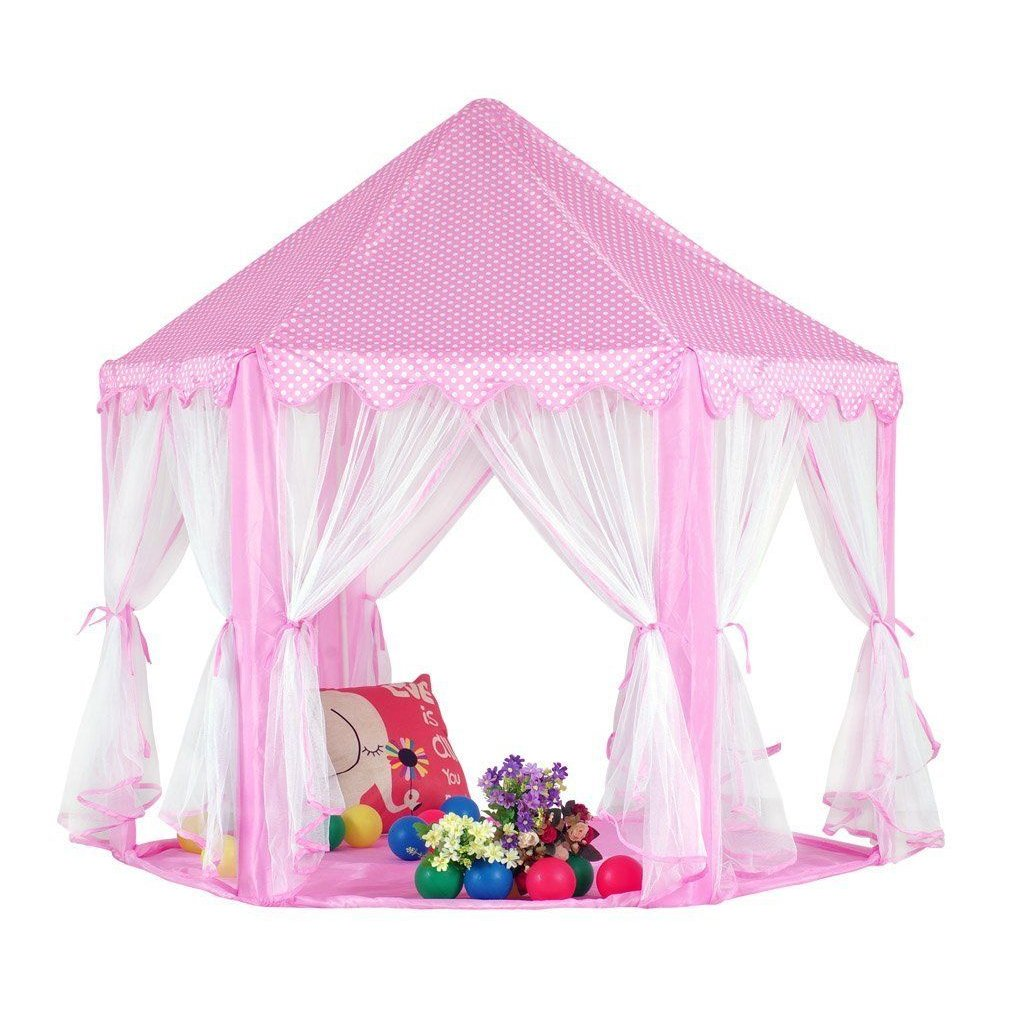 Amazon.com KingMountain Princess Castle Play Tent for Kids Gazebo Tent u0026 Playhouses for Girls Perfect Gift/Presents For Childu0027s Toddlers(Newest Toys ...  sc 1 st  Amazon.com & Amazon.com: KingMountain Princess Castle Play Tent for Kids ...