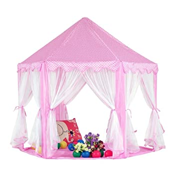 KingMountain Princess Castle Play Tent for Kids Gazebo Tent u0026 Playhouses for Girls Perfect  sc 1 st  Amazon.com & Amazon.com: KingMountain Princess Castle Play Tent for Kids ...