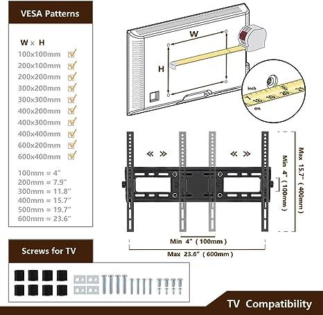 Soporte de pared para televisor articulado con movimiento completo para LED de 22 a 55 pulgadas, LCD, televisores de pantalla plana: Amazon.es: Oficina y papelería