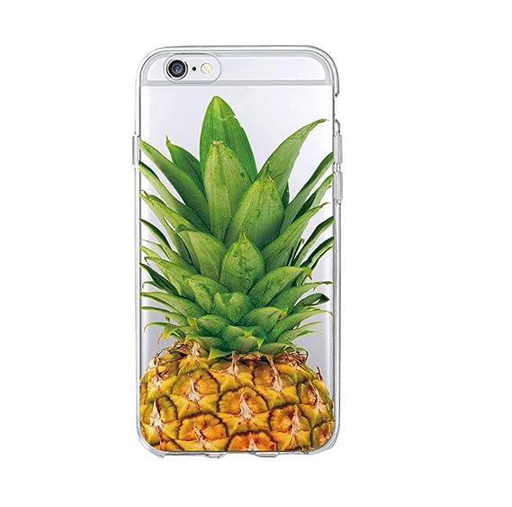 Amazon.com: Cute Fashion Summer PineFloral Soft Phone Case ...