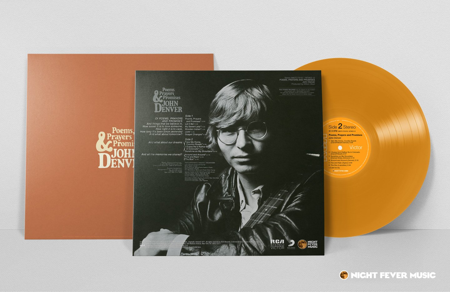 Poems, Prayers & Promises (180 Gram RCA Orange Vinyl) (Limited Edition) by Night Fever Music