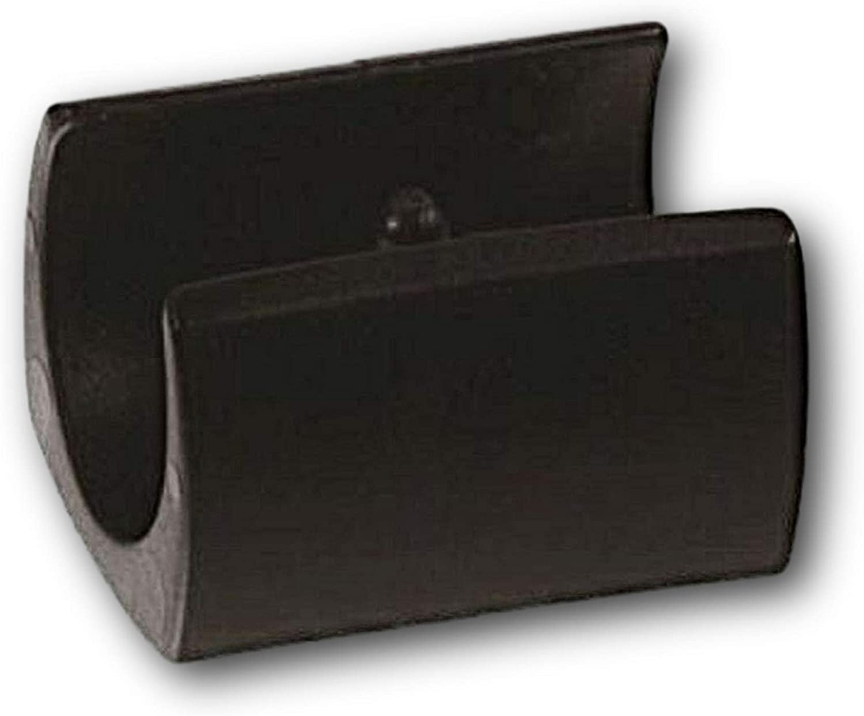 4 patines de la carcasa de sujeción/patines de la silla de plástico, negro, con 1 espiga, para tubos redondos