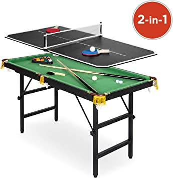 Best Choice Products - Juego de mesa de billar y ping-pong 2 en 1 ...