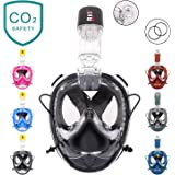 RKD Full Face Snorkel Mask,Snorkeling Mask,180°Panoramic View,Free Breathing
