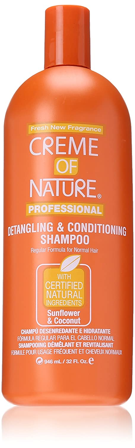Creme of Nature Detangling Conditioning Shampoofor Normal Hair, Sunflower and Coconut, 32 Ounce RCON0103