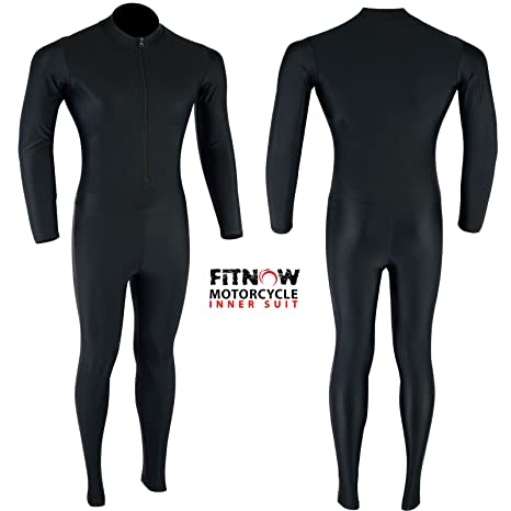 Motorcycle Base Layer Compression Lycra Inner Rash Guard Suit One Piece Black