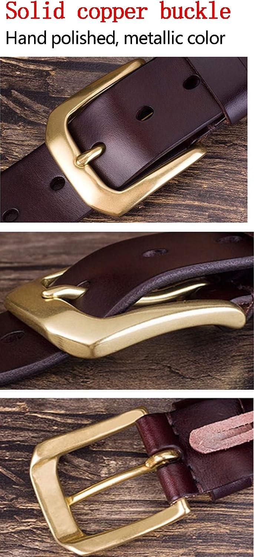WL Mens Belt Leather Belt Dress Belt Classic Pin Buckle Belt Fashion Casual Belt Size Adjustable by Teen Fit