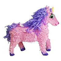 """Large Pink Unicorn Pinata, 21"""" Centerpiece Decoration, Party Game and Photo Prop"""