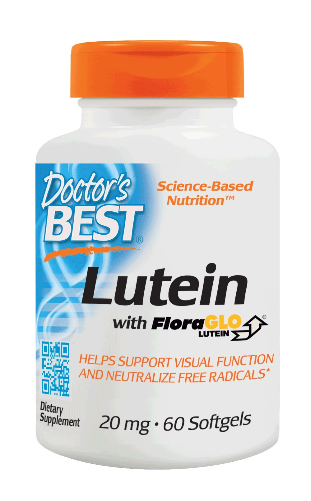 Doctor's Best Lutein with FloraGLO, Gluten Free, Vision Support, 60 Softgels