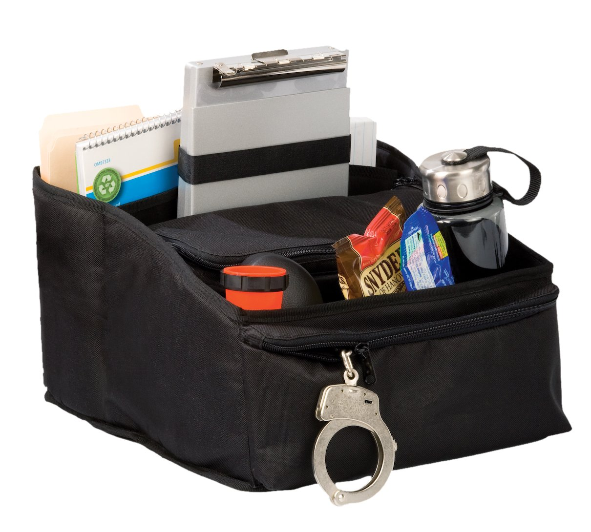 Uncle Mike's Law Enforcement Deluxe Car Seat Organizer, Black by Uncle Mike's