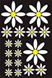 17 White Daisy Flower Shaped sticker Car Bumper Window Bedroom Mirror Stickers