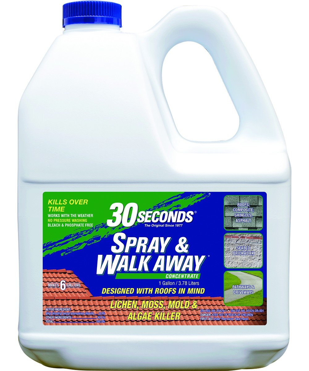 30 SECONDS Spray & Walk Away Concentrate Lichen, Moss, Mold & Algae, 1gal