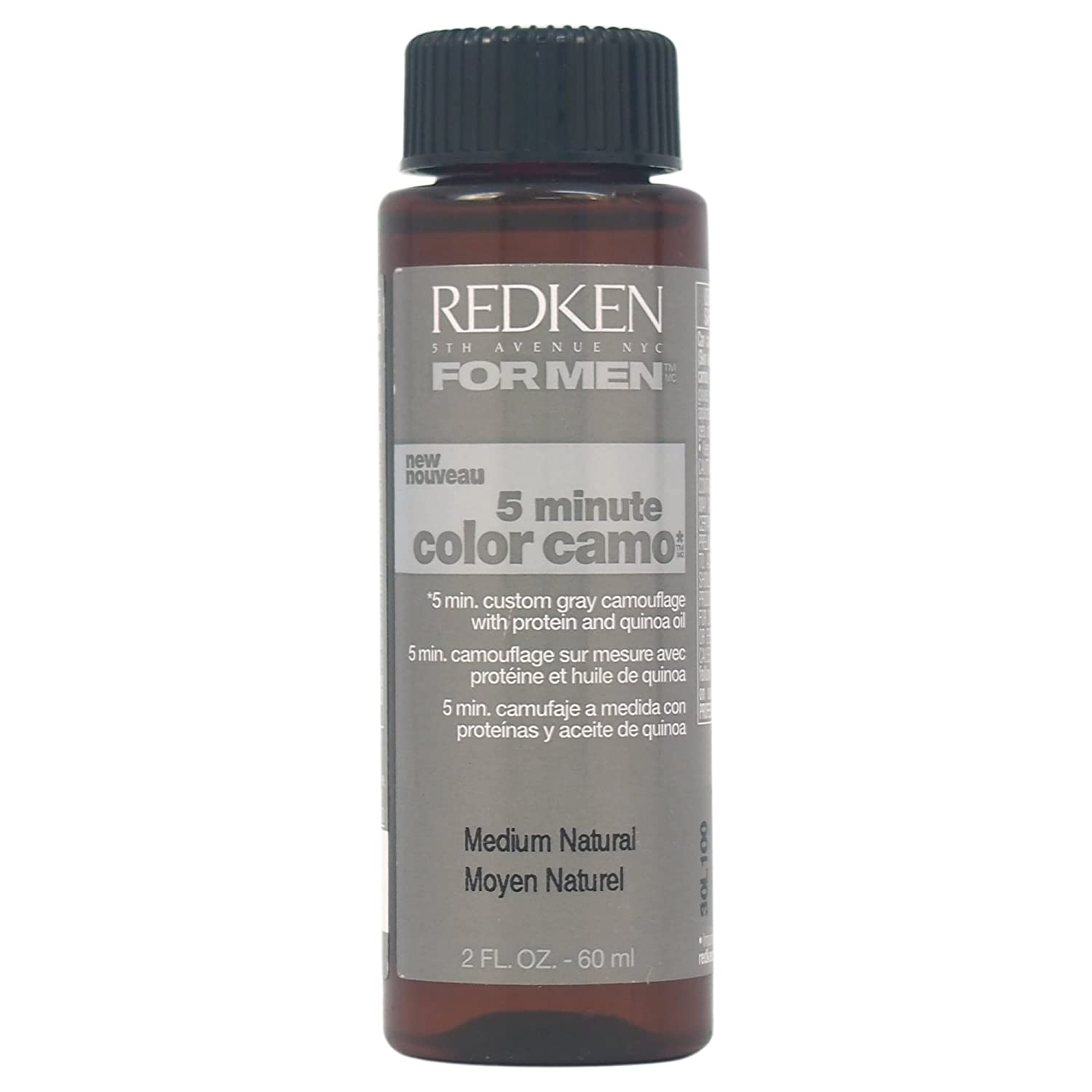 Colors may not represent actual product - Amazon Com Redken 5 Minute Camo Hair Color For Men Medium Natural 2 Ounce Beauty