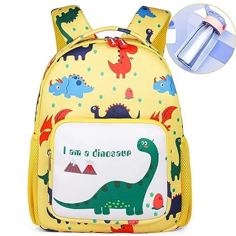 YYBF Mochila para Niños, Animal Dinosaurio Mochila Escolar
