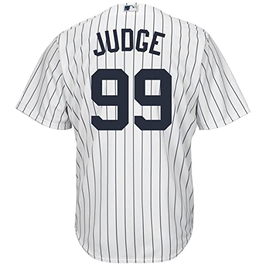 Outerstuff Aaron Judge New York Yankees #99 Youth Cool Base Home Jersey by Outerstuff