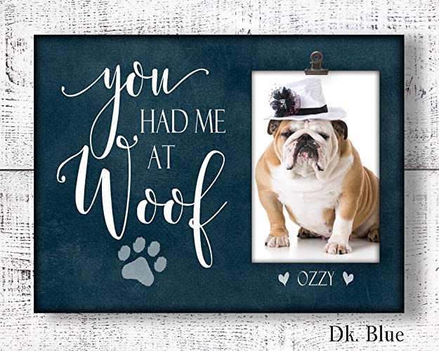amazon com 9x12 personalized dog picture frame personalized dog