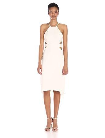 9a6fc9172da Amazon.com  Halston Heritage Women s Halter Dress W Back Cut Outs ...