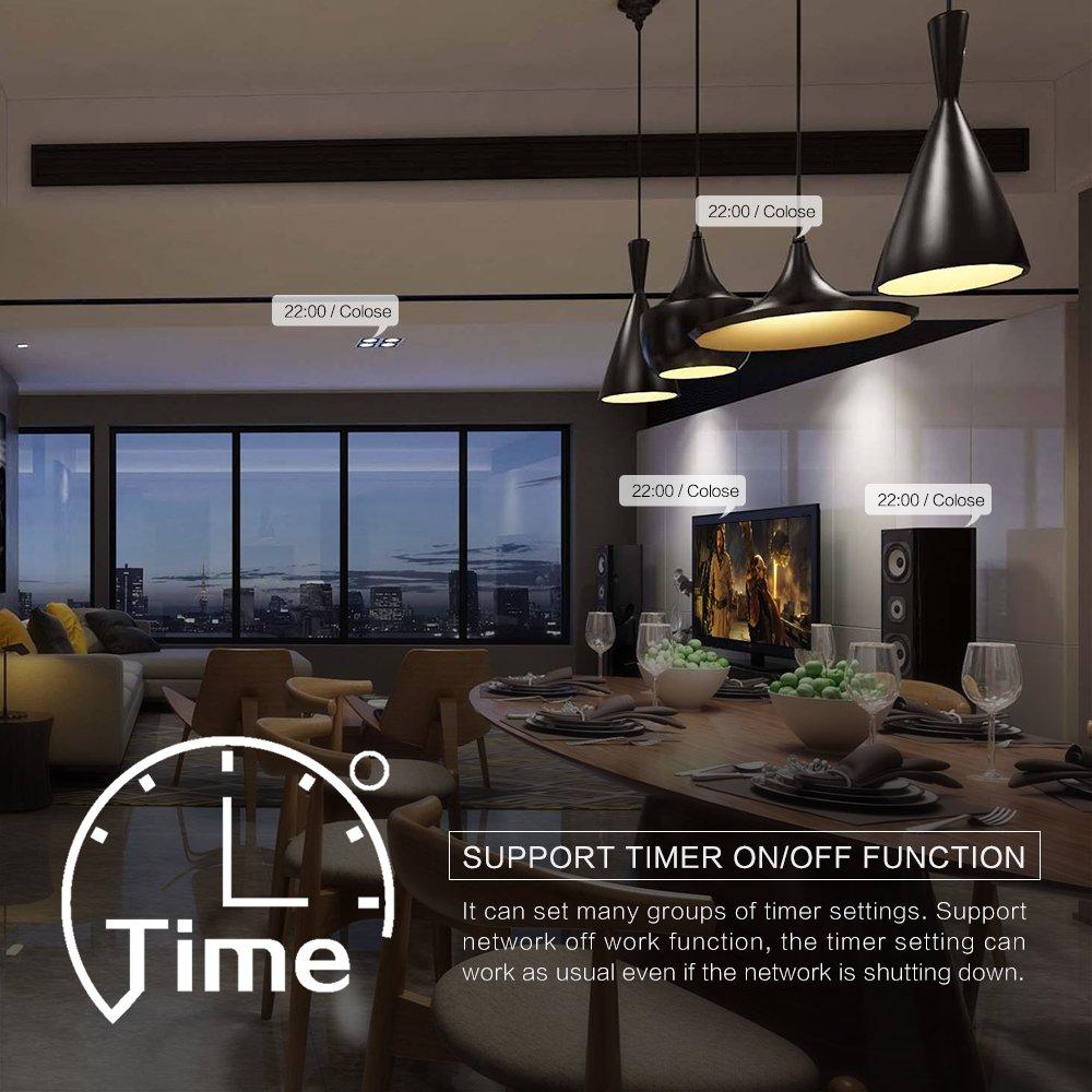 Prenine Smart Light Dimmer in Parete Touch Control WiFi Interruttore Chiaro Lavora con Alexa Google Assistant IFTTT per Regolare la luminosit/à della Luce Hai Bisogno di Linea Neutra