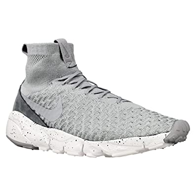 authentic look for best choice Nike Air Footscape Magista Flyknit Mens Trainers 816560 Sneakers Shoes (UK  8.5 US 9.5 EU 43, Wolf Grey Hyper Orange 005)