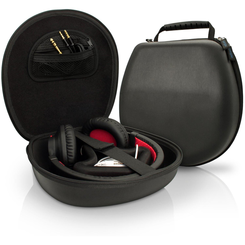 Amazon | igadgitz Noir EVA Etui Housse Rigide de Rangement pour Casque Headphones Headset (Sony, Philips, Pioneer, Senheisser, Marshall, Shure, Beats, Bose,