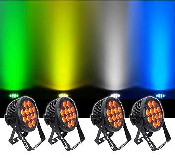 4 x Chauvet DJ SlimPAR Pro H USB Wireless DMX RGBAW+UV LED Wash Light