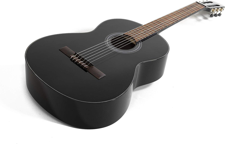 NAVARRA special dark moon NV102, guitarra clásica 1/4, negro ...