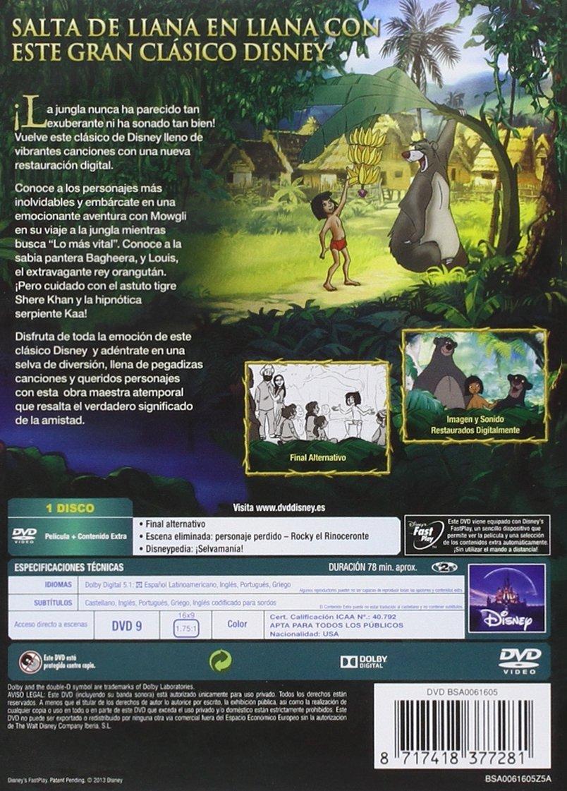 El Libro De La Selva [DVD]: Amazon.es: Wolfgang Reitherman: Cine y Series TV