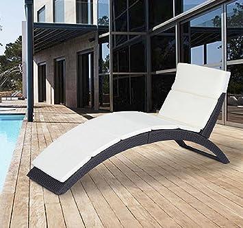Amazon.com: Outsunny plegable Patio exterior Mimbre de sofá ...