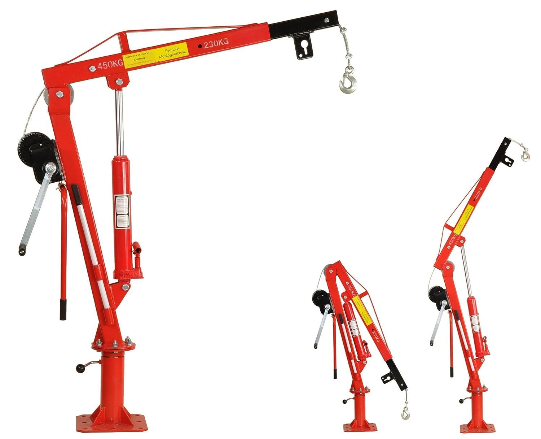 Pro-Lift-Montagetechnik Pick Up Kran, 450 kg mit Seilwinde, J45HW ...