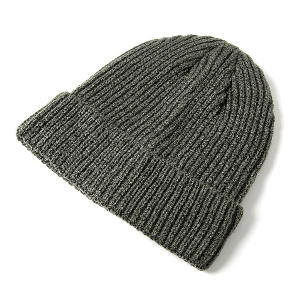 c907e58ccc4 Amazon.com  DeemoShop 1pc Solid Color Yellow Beanie Cap Knitting Men Women  Autumn Winter Soft Warm Skiing Hat  Kitchen   Dining