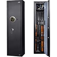 Moutec Large Rifle Gun Safe, Quick Access Rifle Gun Safe, 5-Gun Metal Rifle Gun Security Cabinet for Rifle with/Without…