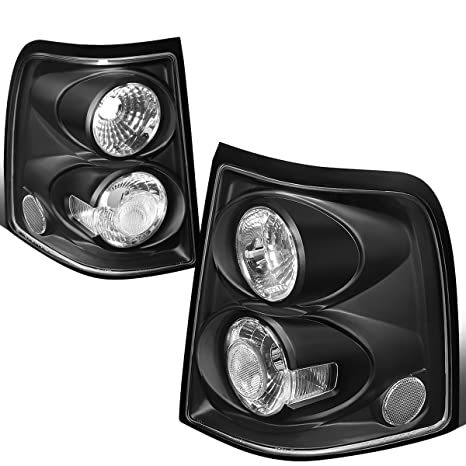 For 2002 2005 Ford Explorer Pair Black Housing Altezza Style Tail Light Brake Parking Lamps