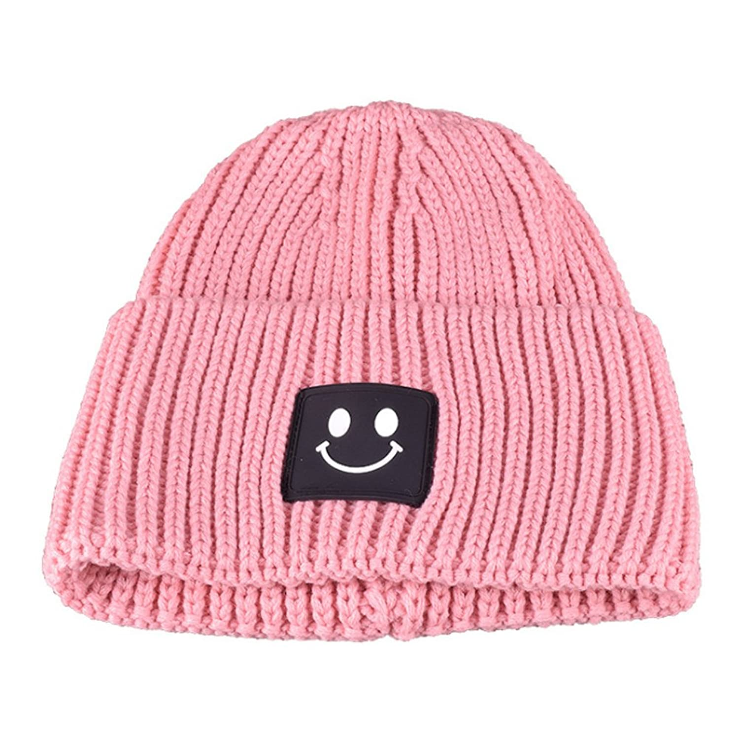 Sitong women 's fashion leisure solid color smiling face wool caps