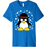 Festive Penguin Not Ugly Christmas Sweater Funny Xmas TShirt