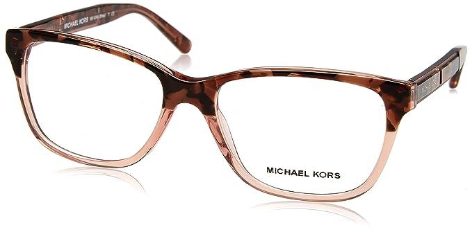 6d55c5f4ea Michael Kors MK4044 Bree Eyeglasses 3251 Pink Tort Graphic 54-16-135 ...