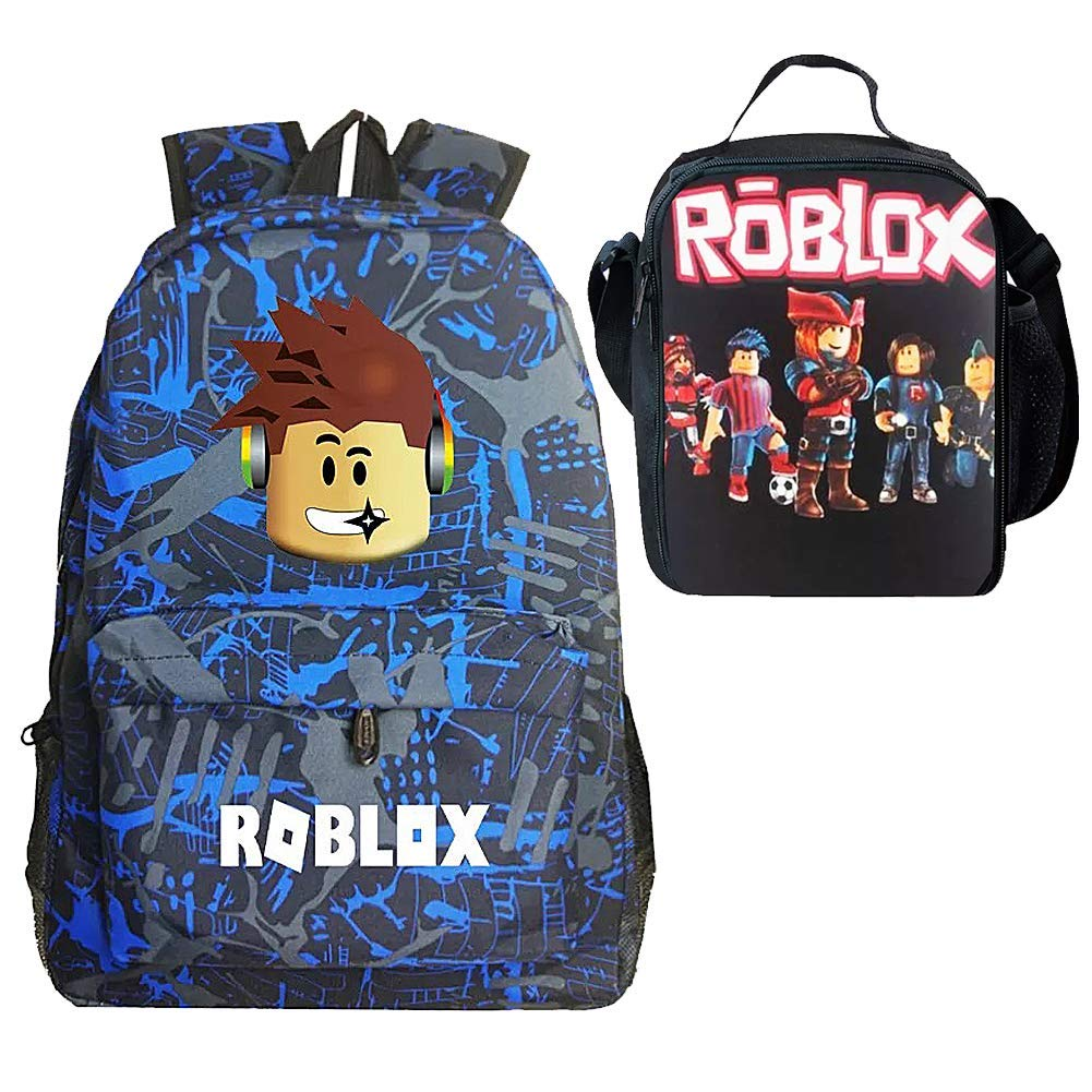 Kid Roblox Backpack with Insulated Lunch Box School Travelbag Camouflage Boy by Uni-fashion