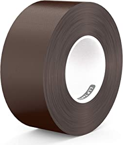 LLPT Duct Tape Premium Grade 2.36 Inches x 108 Feet x 11 Mil Residue Free Strong Waterproof Adhesive Color Dark Brown