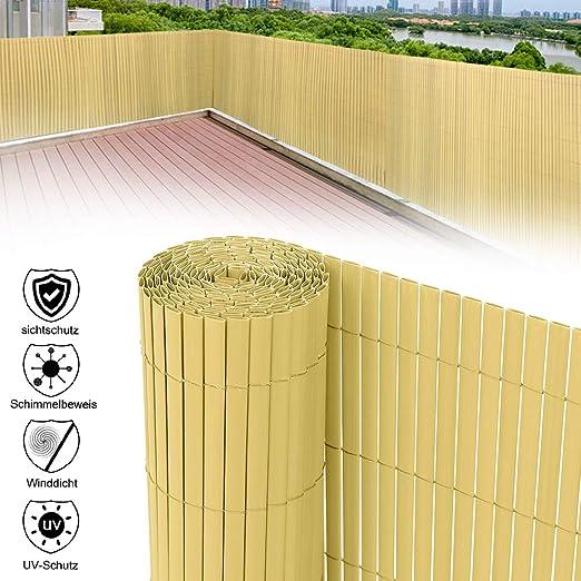 Recinzioni Per Giardino In Pvc.Aufun Pvc Recinzione Paravista Per Giardino Balcone E Terrazza