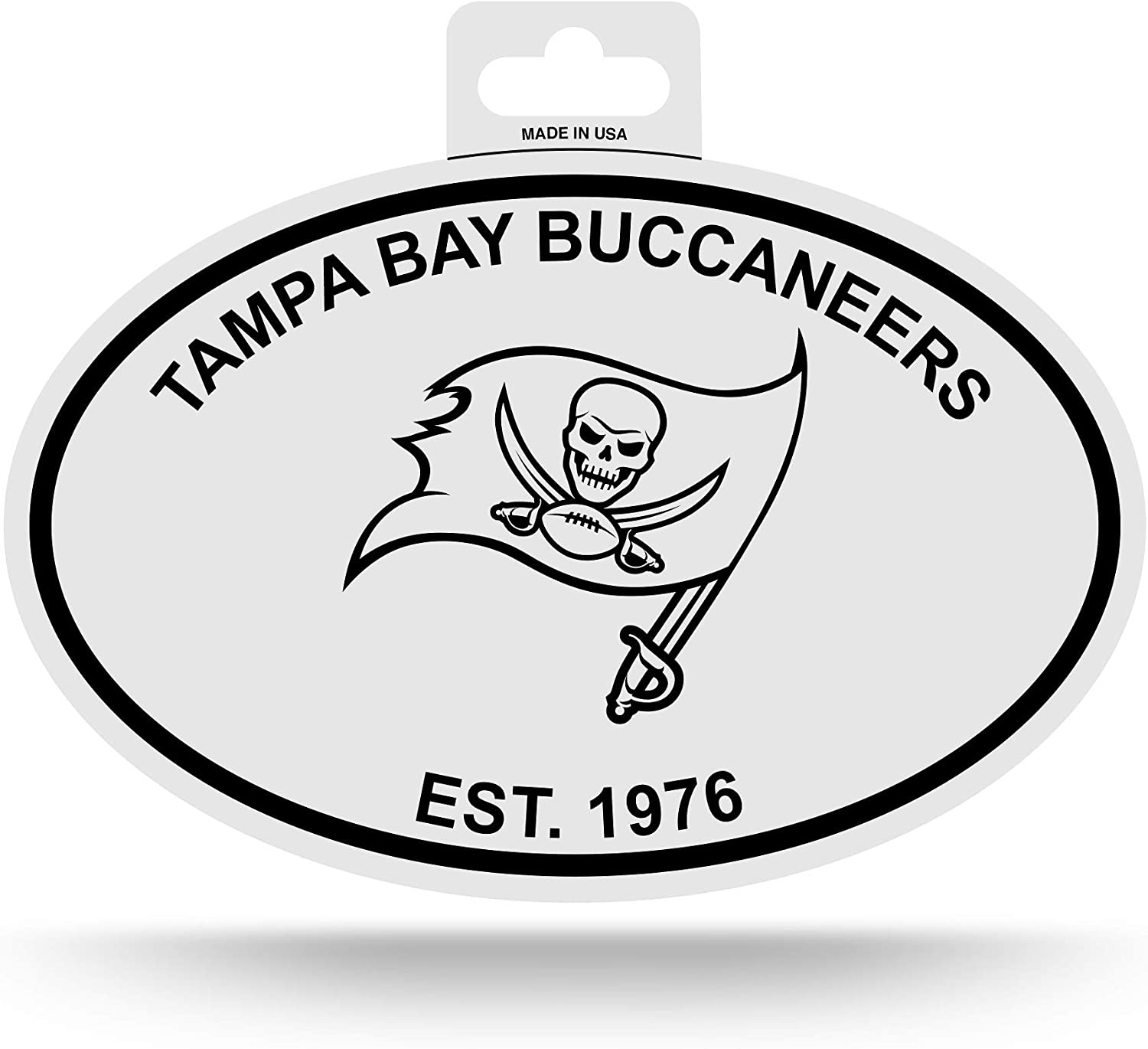 amazon com nfl rico industries black and white team logo oval sticker tampa bay buccaneers sports outdoors nfl rico industries black and white team logo oval sticker tampa bay buccaneers