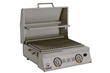 High Quality Solaire SOL AA23A LP Double Burner Tabletop Infrared Propane Gas Grill,  Stainless Steel