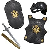 Childs Knight Armor Gladiator Soldier 4 Pc Costume Set