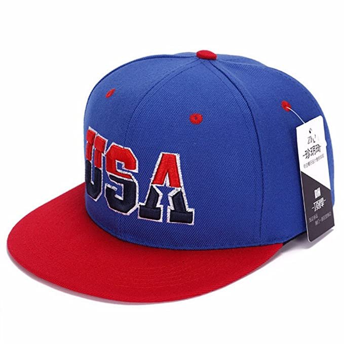 Amazon.com: Fashion USA letter hip hop mesh hats gorras planas beisbol flat hats Sport baseball caps Men Women hiking snapback casquette: Clothing