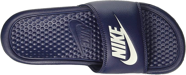Nike Men's Benassi Jdi Slide Athletic Sandals Midnight Navy