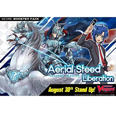 Cardfight Vanguard VGE-V-BT05-EN Aerial Steed Liberation Booster Display of 16 Packets, Multi: Toys & Games