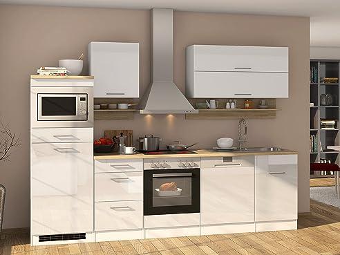 Küchenzeile Küche Küchenblock Einbauküche Küchen-Set Kochnische ...